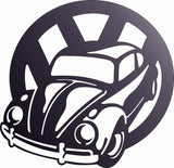 CAR VOLKSWAGEN SIGN GARGAGE DXF of PLASMA ROUTER LASER  Cut -CNC Vector DXF-CDR-AI-JPEG