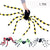 1pcs/lot Halloween Decorations Horror Prop Plush Spider and Web Trick Toys Simulated Animals Party Supplies For Bar Ornament