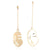 Abstract Art Drop Earrings Gold Color