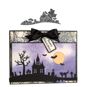 CH Halloween Hill Die 3D Gift Stitched DIY Scrapbooking Stamps Craft Embossing Die Cut Making Stencil Template