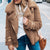 Litthing Fashion Lapel Plush Fleece Jacket Faux Fur Coat Women Autumn Winter Warm Soft Jacket Zipper Overcoat Short Outerwear