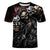 New 3D t shirt  Men Skull tshirt ,Skeleton warrior with two guns in his hand Tops Casual Tees Short Sleeve Streetwear HalloweenS
