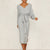 Oeak Winter Warm Knitted Sweater Dress Women 2019 Sexy V-Neck Vestidos Casual Split Office Lady Bodycon Dress With Wrap Belted