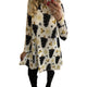 Print Long Sleeve Autumn Winter Christmas Dress Women 2019 Casual Loose Short Party Dress Plus Size S-5XL Vestidos