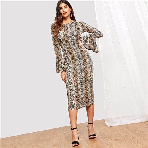 46cd9cf5b Round Neck Long Sleeve Fit and Flare Dress – cuteclothsforteens
