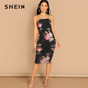 Multicolor Flower Print Cami Dress