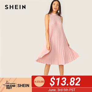 Shift Straight Solid Cute Dresses
