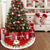 Santa Claus 2019 Christmas Tree Skirt Faux Fur Merry Christmas Decorations For Home Ornaments Xmas Tree Decor Navidad New Year