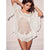 Sexy lingerie porno body underwear Women babydoll pajamas Dress mini Halter Sleepwear Solid Lace Dress Nightwear +G-string H5