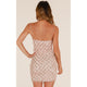 spaghetti strap backless club mini