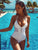 White Sexy Women One Piece Swimsuit Bandage Swimwear