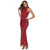 Women Clothing Summer Sexy Ladies Sleeveless Halter Tassel Sequin Dress Fashion Bodycon Female Red Long Gown Party Dresses Maxi