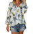 V-Neck Pineapple Print Floral Tops Blouse Blouse
