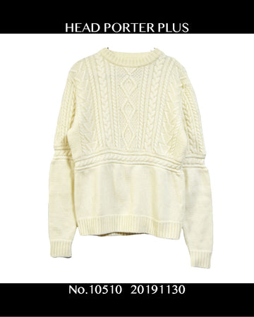 HEAD PORTER PLUS / Knit Seater / 10510 - 1130 37.05