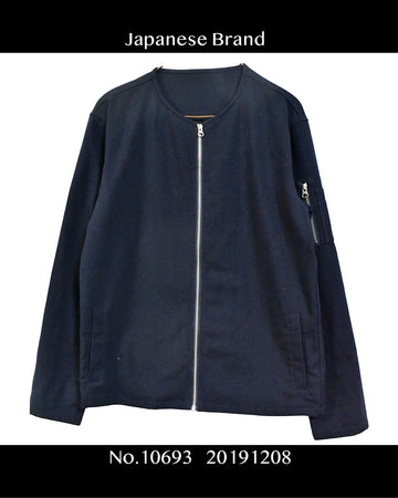 Japanese Brand / No Collar Shirt