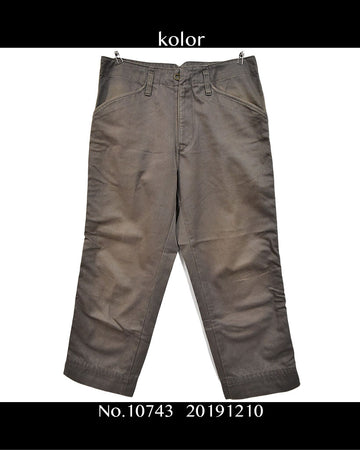 kolor / Work Chino Pants / 10743 - 1210 58.5