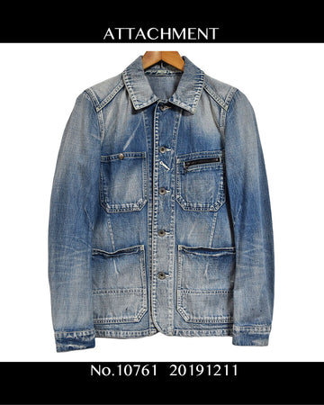 ATTACHMENT / Work Denim Jacket / 10761 - 1211 49.7