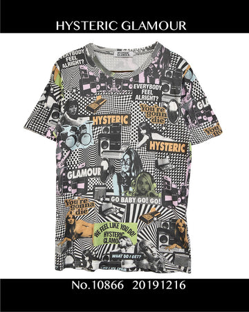 HYSTERIC GLAMOUR / Graphic T-shirt / 10866 - 1216 47.5