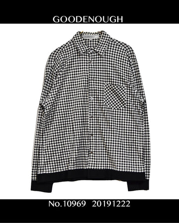 GOODENOUGH / Black Check Shirt / 10969 - 1222 69.5