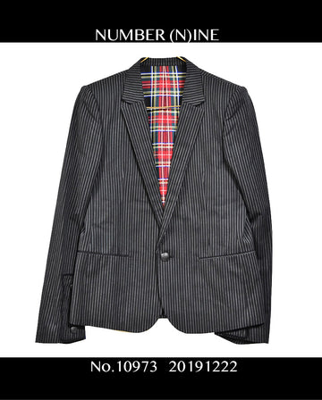 NUMBER NINE/BlackStripeTailored Jacket / 10973 - 1222 135.5