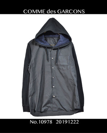 COMME des GARCONS / Nylon Hooded Shirt / 10978 - 1222 95.68