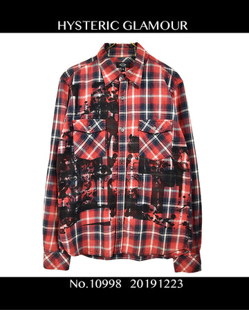 HYSTERIC GLAMOUR / Graphic Check Shirt / 10998 - 1223 53