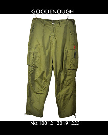 GOODENOUGH / Design Nylon Cargo Pants / 11012 - 1223 69.5