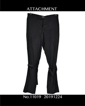 ATTACHMENT / Black Bondage Pants / 11019 - 1224 31