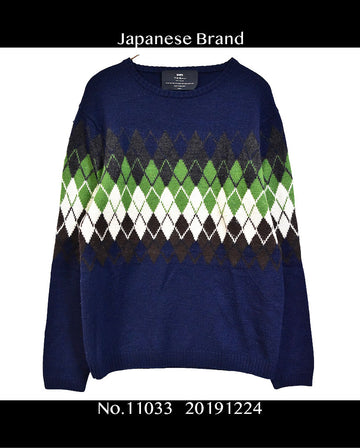 SHIPS / Argyle Check Knit Sweater / 11033 - 1224 31