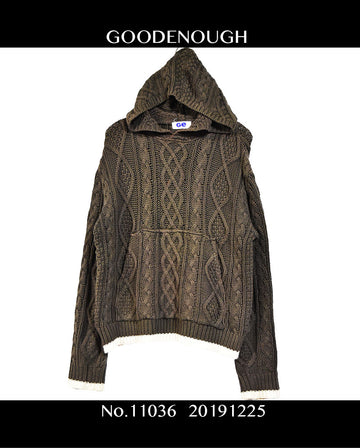 GOODENOUGH / Design Knit Hooded / 11036 - 1225 120.1