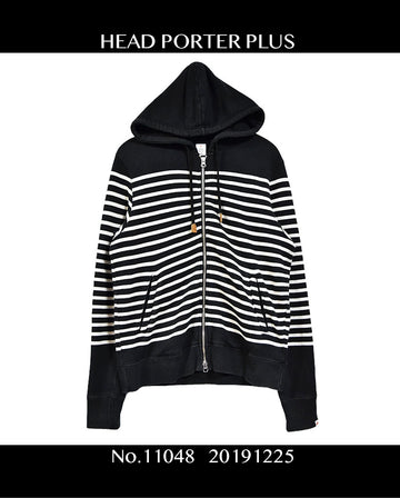 HEAD PORTER PULUS / Stripe Sweat Hooded / 11048 - 1225 56.3