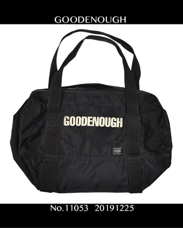 GOODENOUGH / Black Nylon Traveling Bag / 11053 - 1225 64