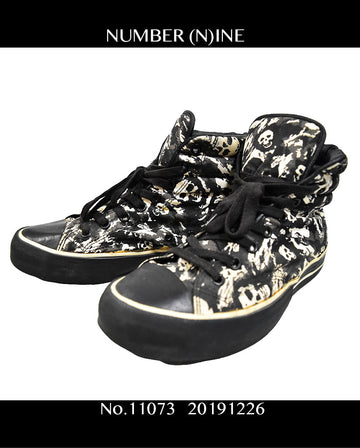 NUMBER NINE / Skull High Sneaker / 11073 - 1226 80.5