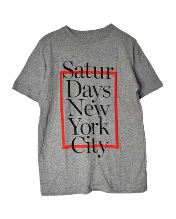 SATURDAYS SURF NYC / Logo T-Shirt / 11142 - 1231 36.5