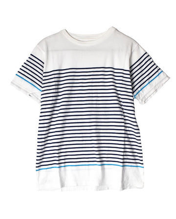 SOPHNET / Plain Stripe T-Shirt / 11253 - 0105 33.2