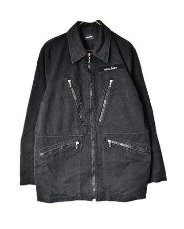 SOPHNET / Zipper Black Denim Jacket / 11255 - 0105 68.4