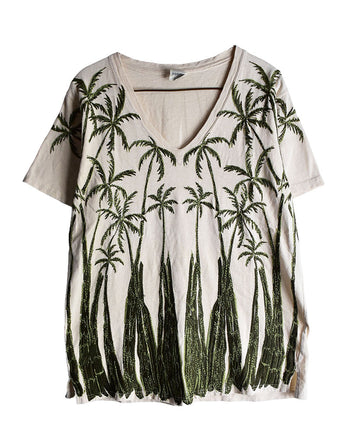 KAPITAL / Palm Tree Graphic T-Shirt / 11438 - 0114 48.6