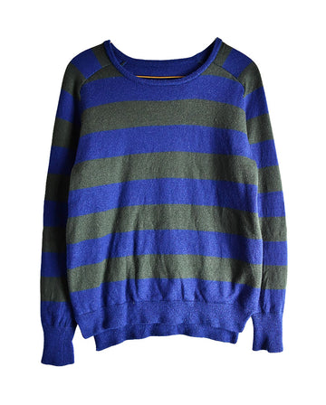 HEAD PORTER PULUS / Stripe Knit Sweater / 11439 - 0114 44.2