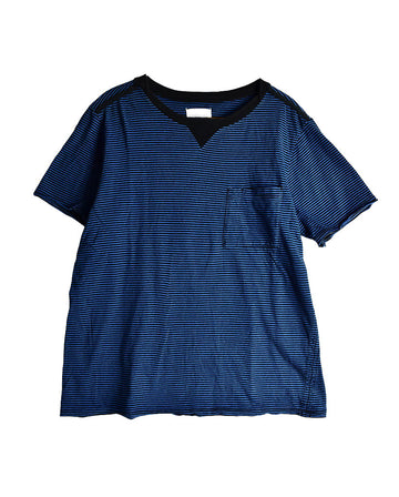 SOLOIST / Stripe Pocket T-Shirt / 11444 - 0114 48.6