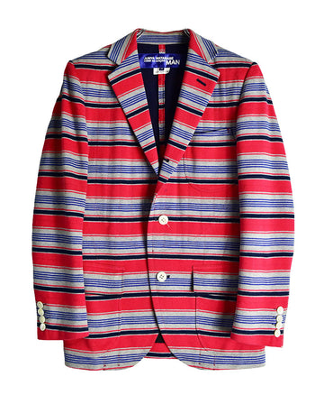 COMME des GARCONS/Stripe Tailored Jacket / 11498- 0116 91.5