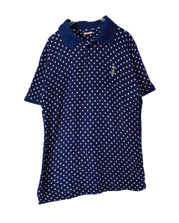 KAPITAL/Polka Dot Small Embleb Polo Shirt / 11567 - 0120 53