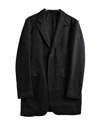 HYSTERIC GLAMOUR/Black Basic Over Coat/11608 - 0122 71.7