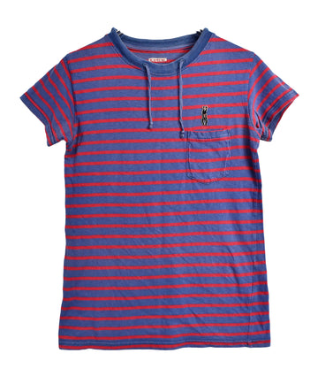 KAPITAL/Stripe Pocket T-Shirt/12824 - 0330 42