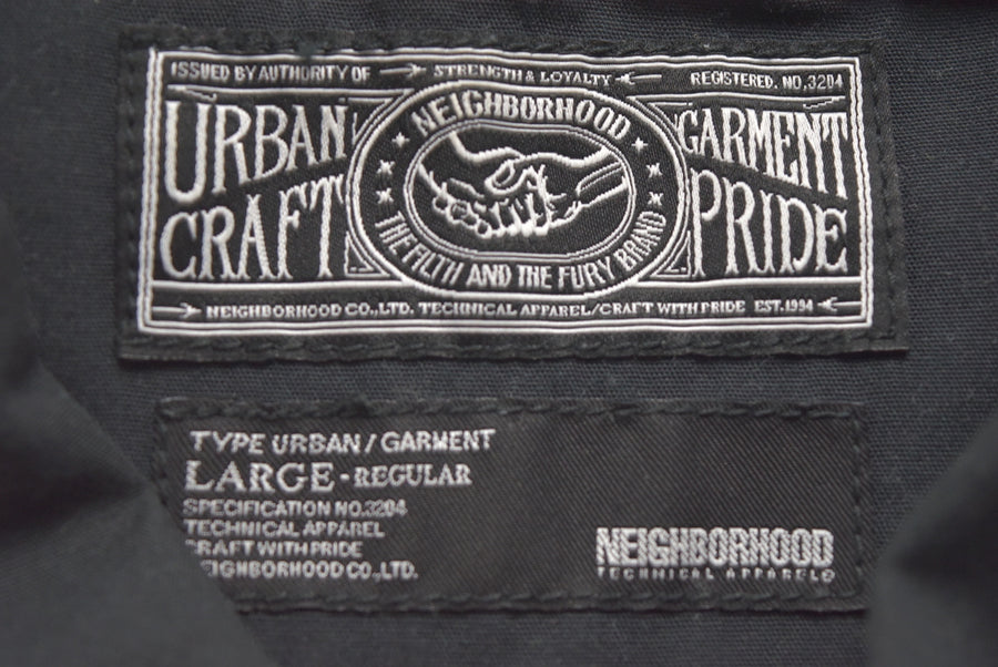 NEIGHBORHOOD / Black Work Shirt UG.WORK/EC-SHIRT.LS