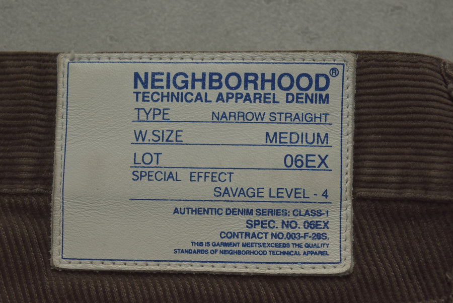NEIGHBORHOOD / Brown Damage Corduroy Pants