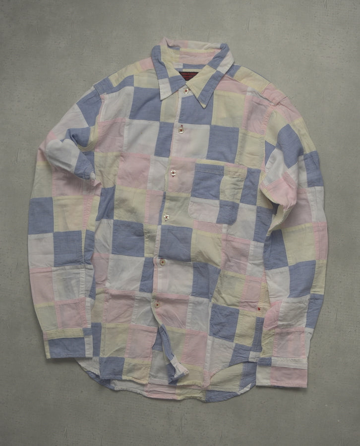 Engineered Garments / Pastel Color Pattern Shirt