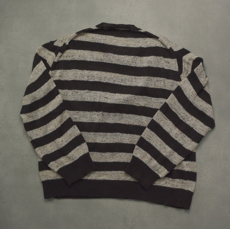 COMME des GARCONS HOMME / Black / Grey Border Sweater