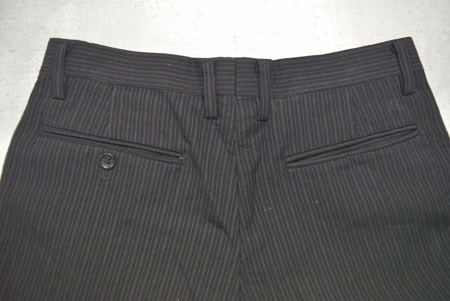 COMME des GARCONS HOMME / Grey Strype Cropped Pants
