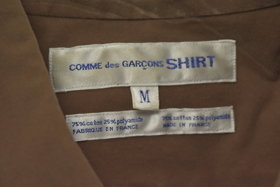 COMME des GARCONS SHIRT / Brown Suede Touch Shirt