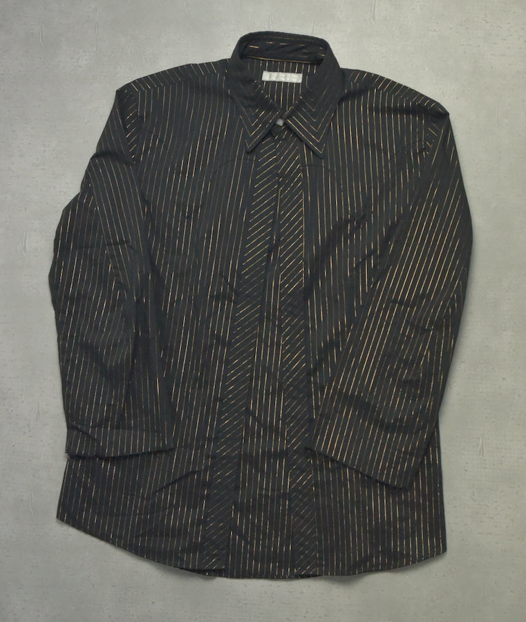 NUMBER(N)INE / Black Gold Pin Strype Shirt